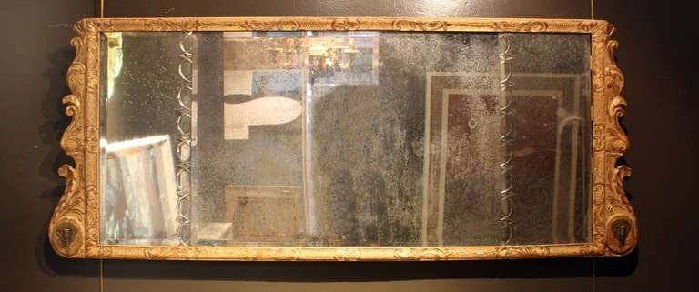 Queen Anne Gilt Gesso Over Mantle Mirror For Sale At 1Stdibs Within Wooden Overmantle Mirrors (#28 of 30)