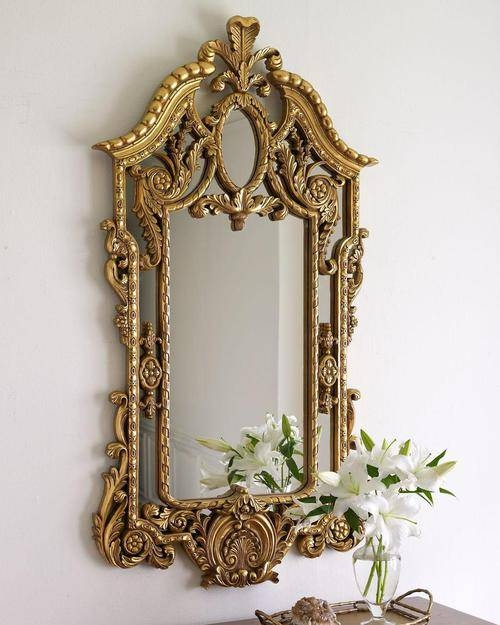 Queen Mirror Frame With Golden Framework Pretty And Expensive Within Expensive Mirrors (#16 of 20)