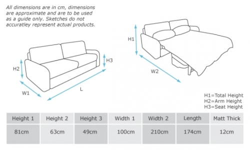 Queen Sofa Bed Dimensions Within Queen Size Sofa Bed Sheets (View 13 of 15)
