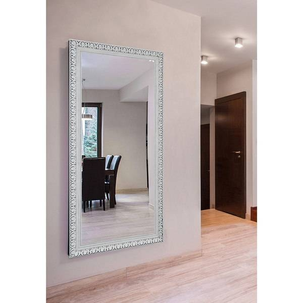 Rayne Extra Large French Victorian White Wall/ Vanity Mirror For Victorian Floor Mirrors (#22 of 30)