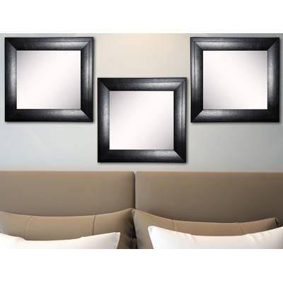 Rayne Mirrors Ava Stitched Black Leather Wall Mirror | Wayfair Within Leather Wall Mirrors (View 13 of 20)