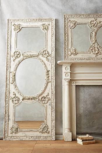 Rdujour » Anthropologie Home White Rococo Mirror 1 With Regard To White Rococo Mirrors (#12 of 20)