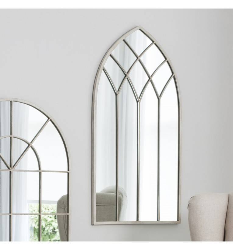 Rebecca Arched Cream Mirror 95 X 49 Cm Rebecca Arched Cream Mirror For Cream Mirrors (#26 of 30)