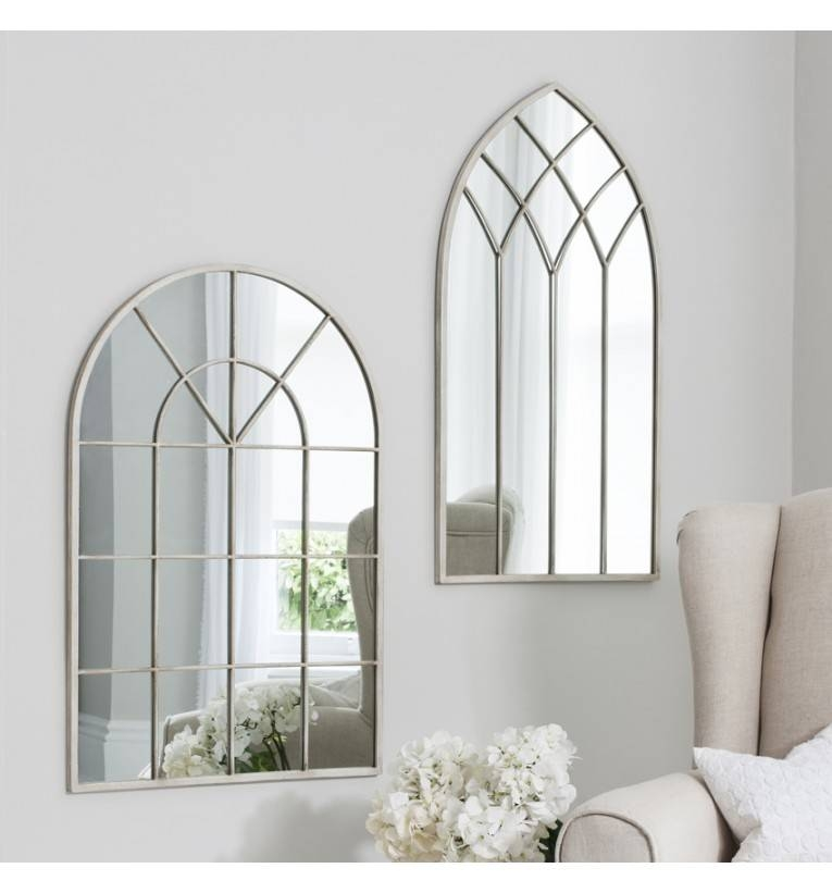 Rebecca Arched Cream Mirror 95 X 49 Cm Rebecca Arched Cream Mirror With Cream Mirrors (#27 of 30)
