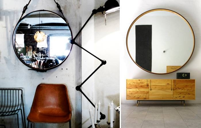 Rebecca Tollefsen Blog: Interior Design Love: Round Mirrors Intended For Leather Round Mirrors (#14 of 20)