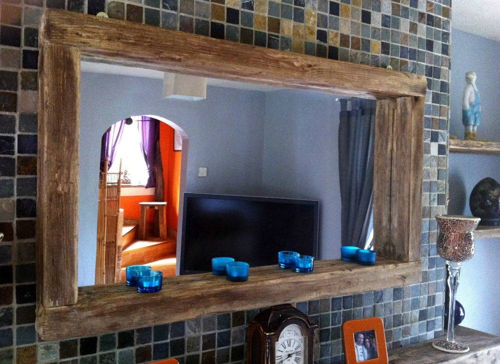 Reclaimed Barn Wood Floor Mirror With Reclaimed Wood Mirror In Rustic Oak Mirrors (#15 of 20)