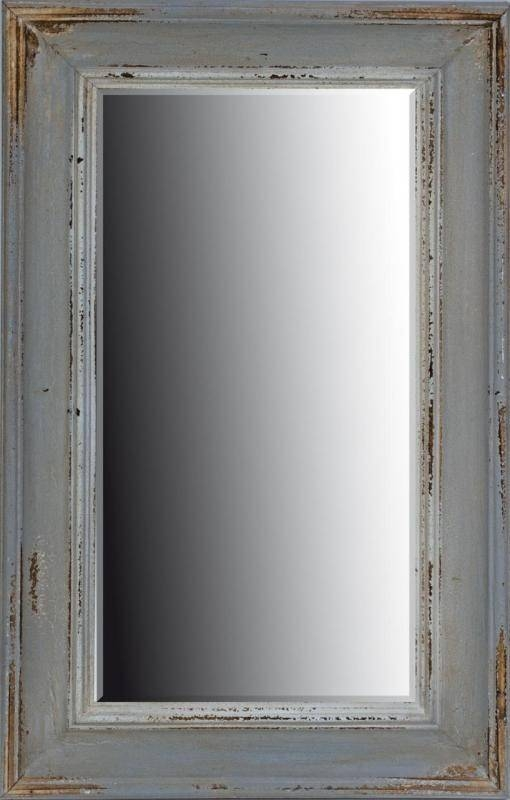 Rectangle Vintage Grey Wall Mirror | Mulberry Moon Regarding Grey Vintage Mirrors (#20 of 20)