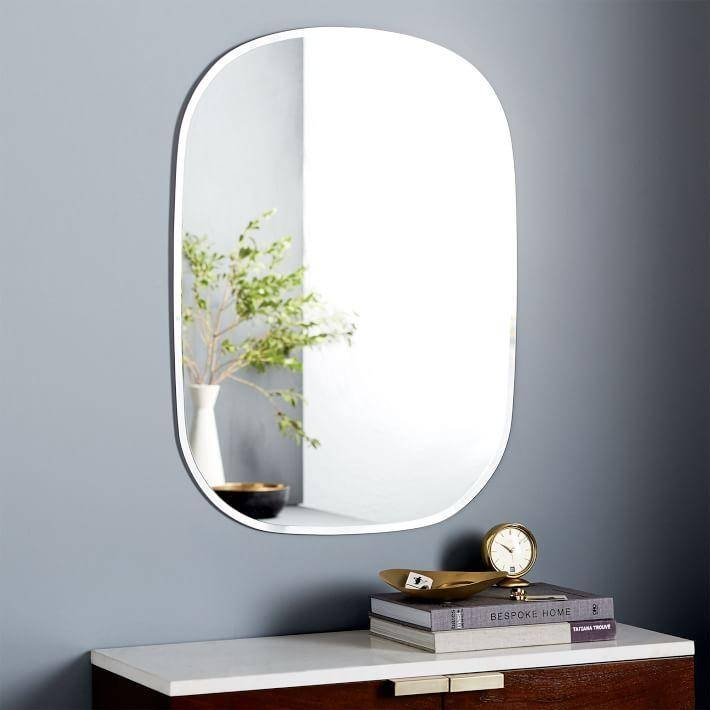 Rectangle Wall Mirror Pertaining To No Frame Wall Mirrors (#13 of 20)