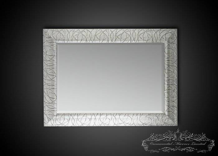 Rectangular Silver Glitter Mirrors From Ornamental Mirrors Limited Intended For Silver Glitter Mirrors (View 3 of 20)