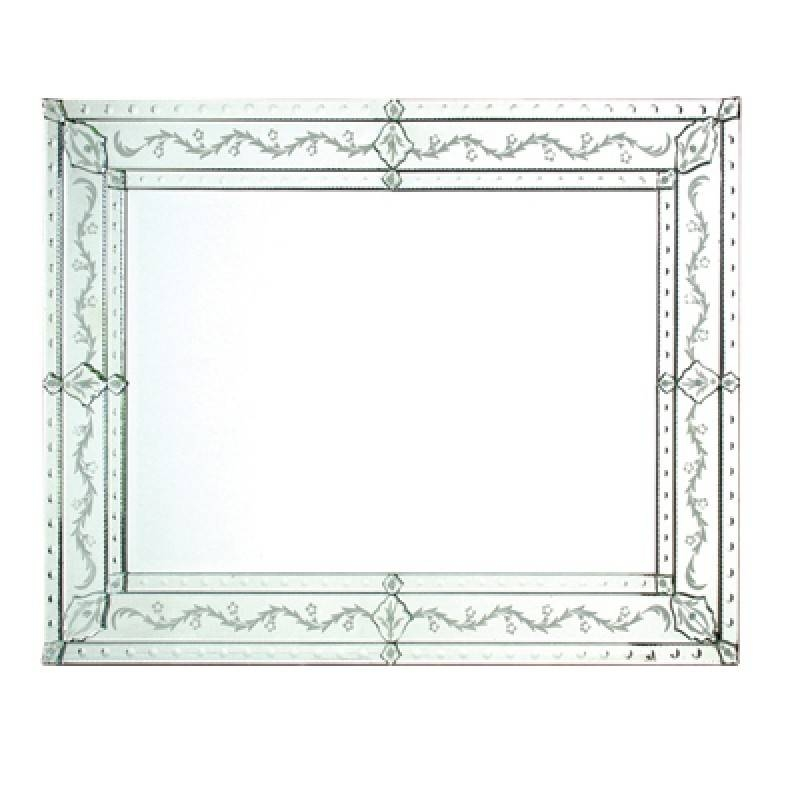 Rectangular Venetian Mirror | Wall Mirrors | Lighting & Mirrors For Rectangular Venetian Mirrors (#16 of 30)