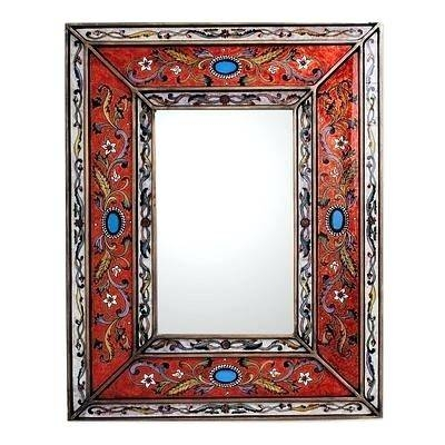 Red Framed Wall Mirror – Shopwiz Throughout Red Wall Mirrors (#23 of 30)