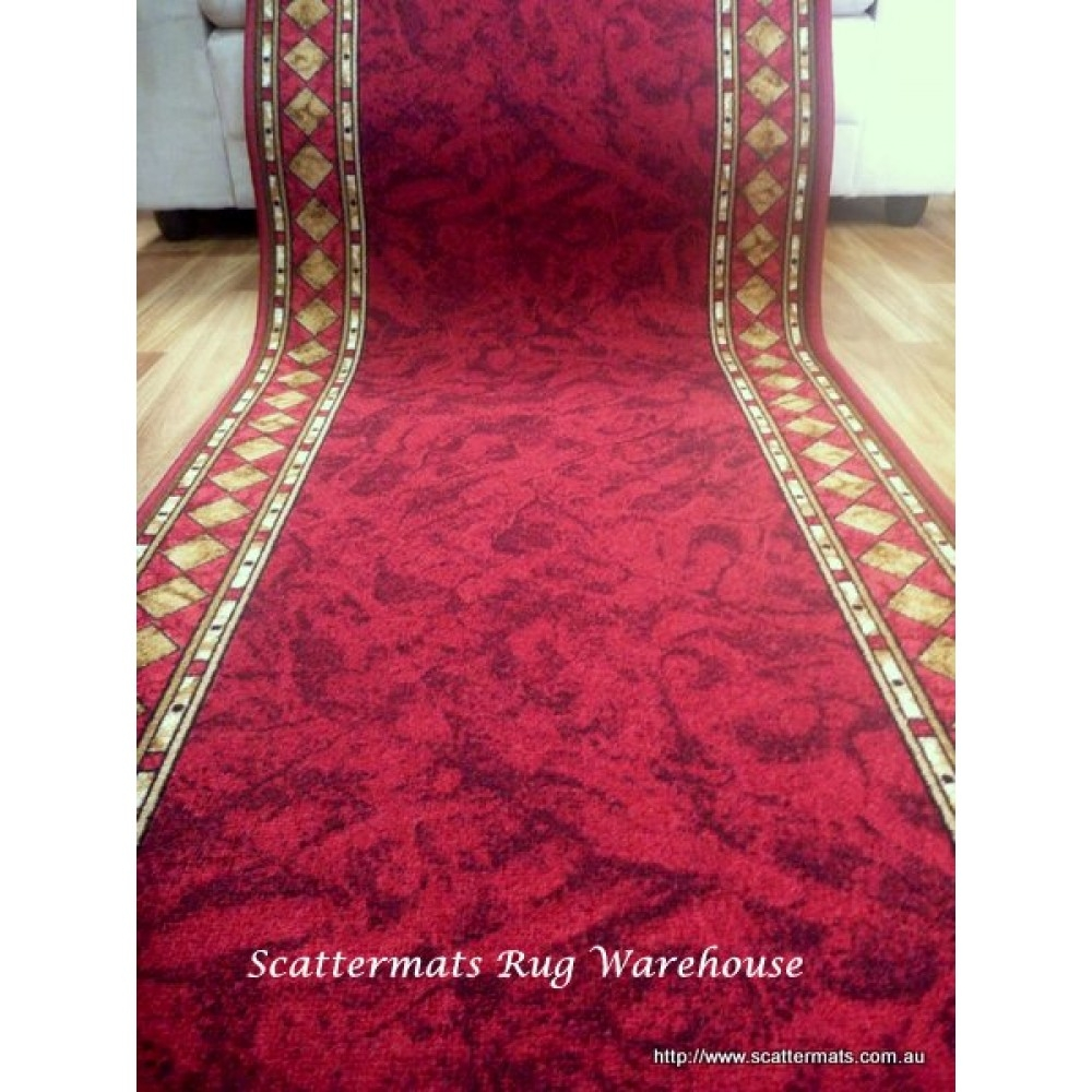 Red Hallway Runner Custom Cut To Length From Roll Free Shipping Intended For Red Hallway Runners (View 20 of 20)