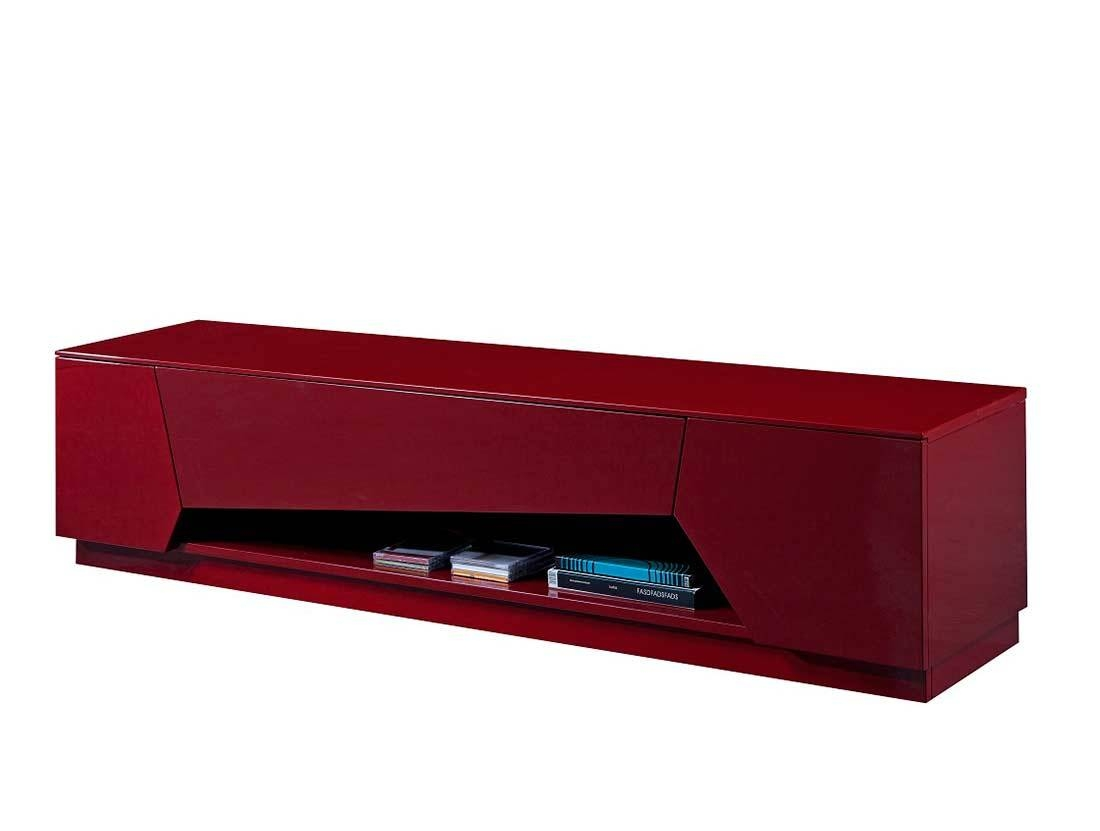 Red High Gloss Tv Base Sj125 | Tv Stands With Regard To Red High Gloss Sideboard (View 19 of 20)