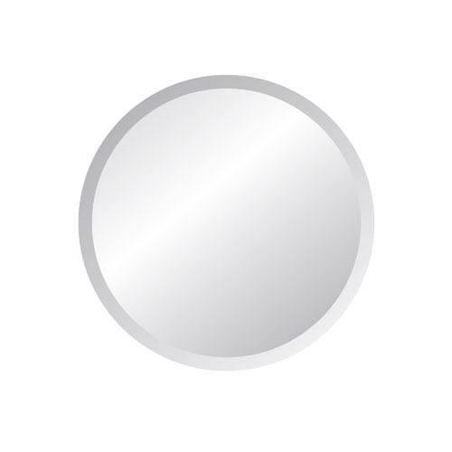 Regency 18 Inch Round Beveled Edge Mirror Spancraft Wall Mirror Throughout White Round Mirrors (#21 of 30)