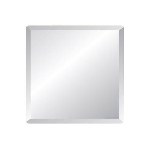 Regency 24 Inch Square Beveled Edge Mirror Spancraft Wall Mirror In Square Bevelled Mirrors (#13 of 15)