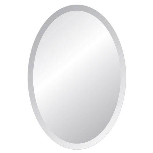Regency Arch 18 X 36 Beveled Edge Mirror Spancraft Wall Mirror Within Oval Bevelled Mirrors (#27 of 30)