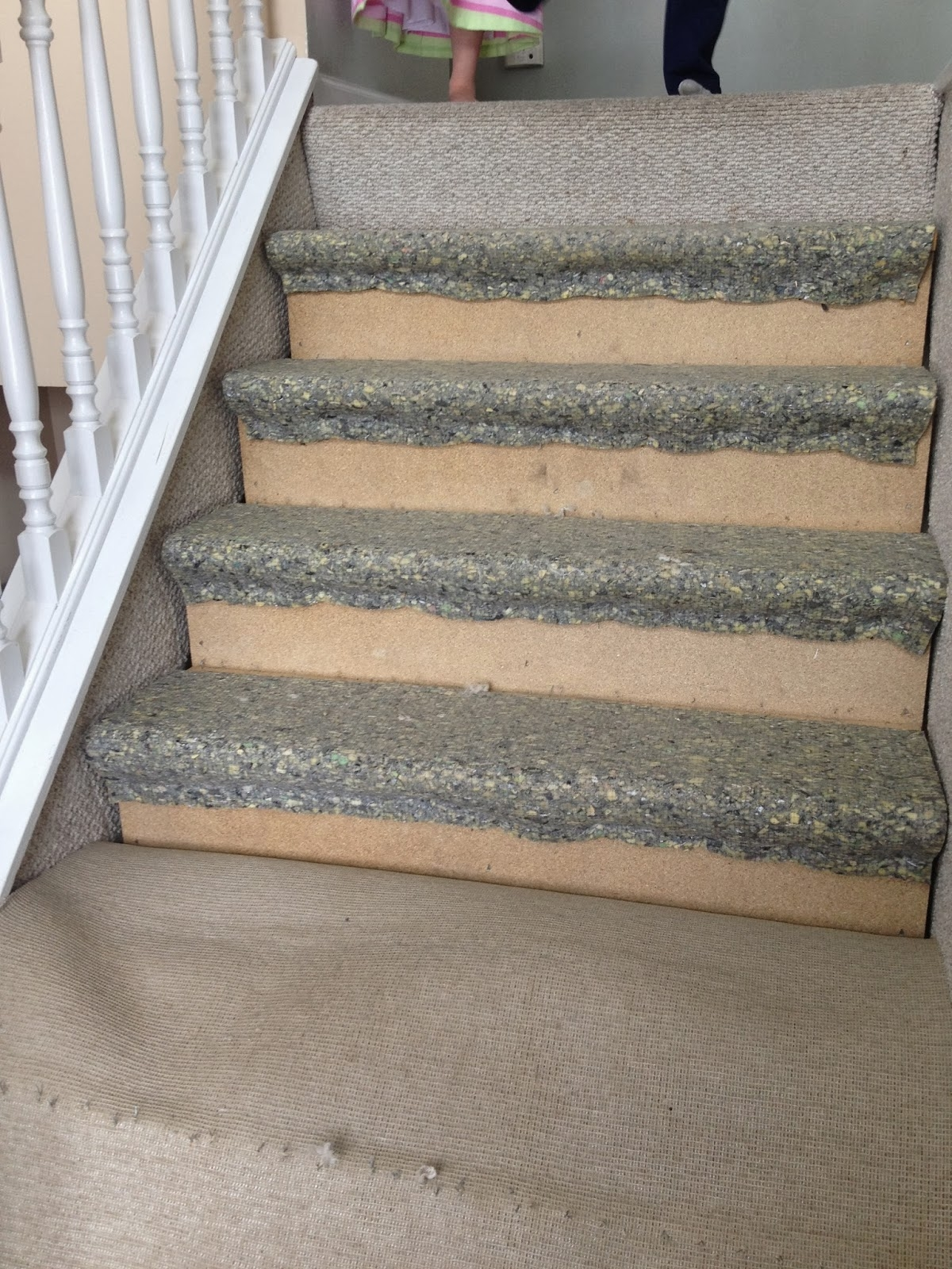 Remodelaholic 60 Carpet To Hardwood Stair Remodel With Rustic Stair Tread Rugs (#16 of 20)