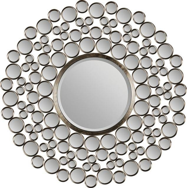 "Ren Wil Mt849 Andromeda 42"" Height Circular Mirror – Contemporary Throughout Circular Wall Mirrors (#16 of 20)"