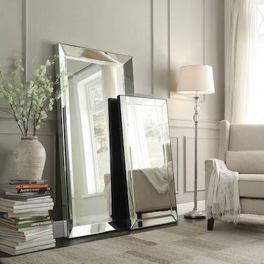 Restoration Hardware Venetian Beaded Leaner Mirror Look For Less Intended For Venetian Beaded Mirrors (#11 of 30)