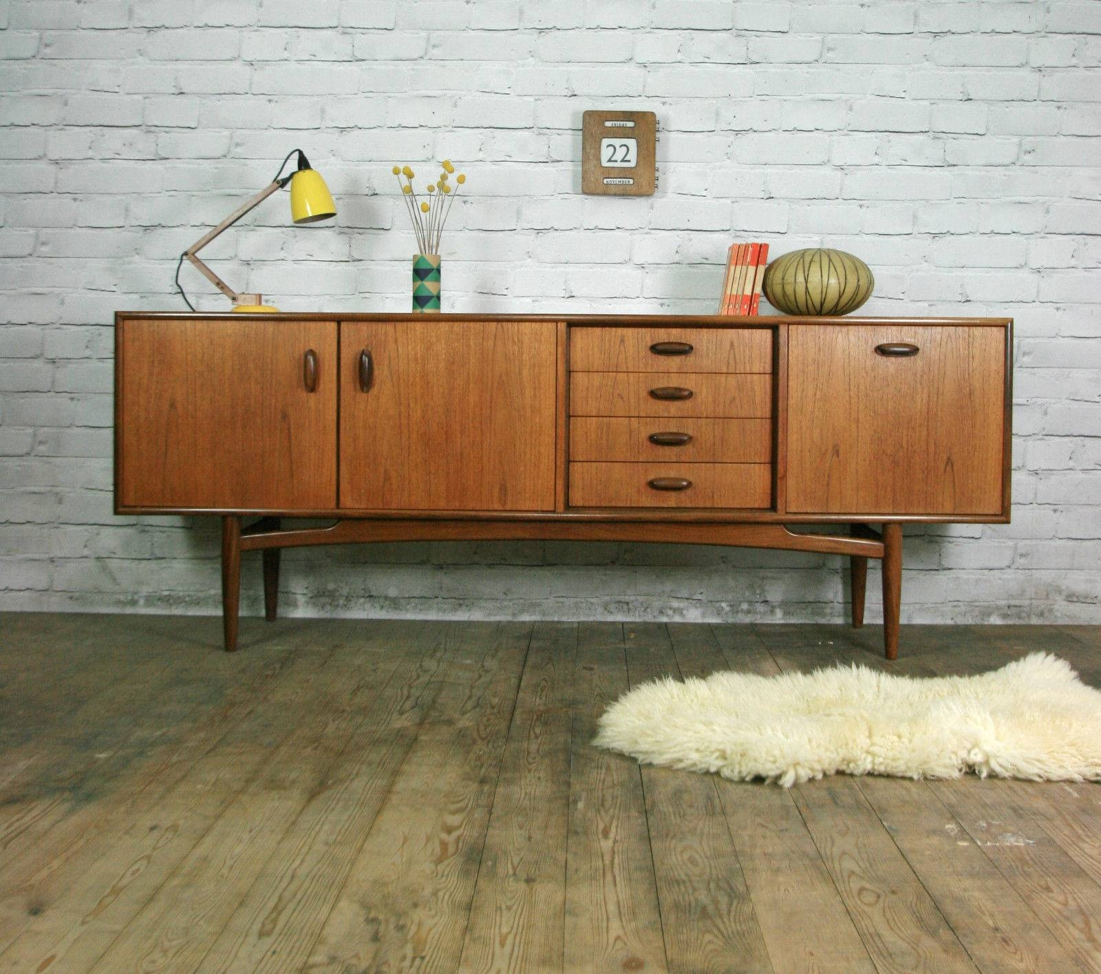 Retro Scandinavian Chair, Danish Retro Leather Armchair For Sale For Retro Sideboards (#13 of 20)