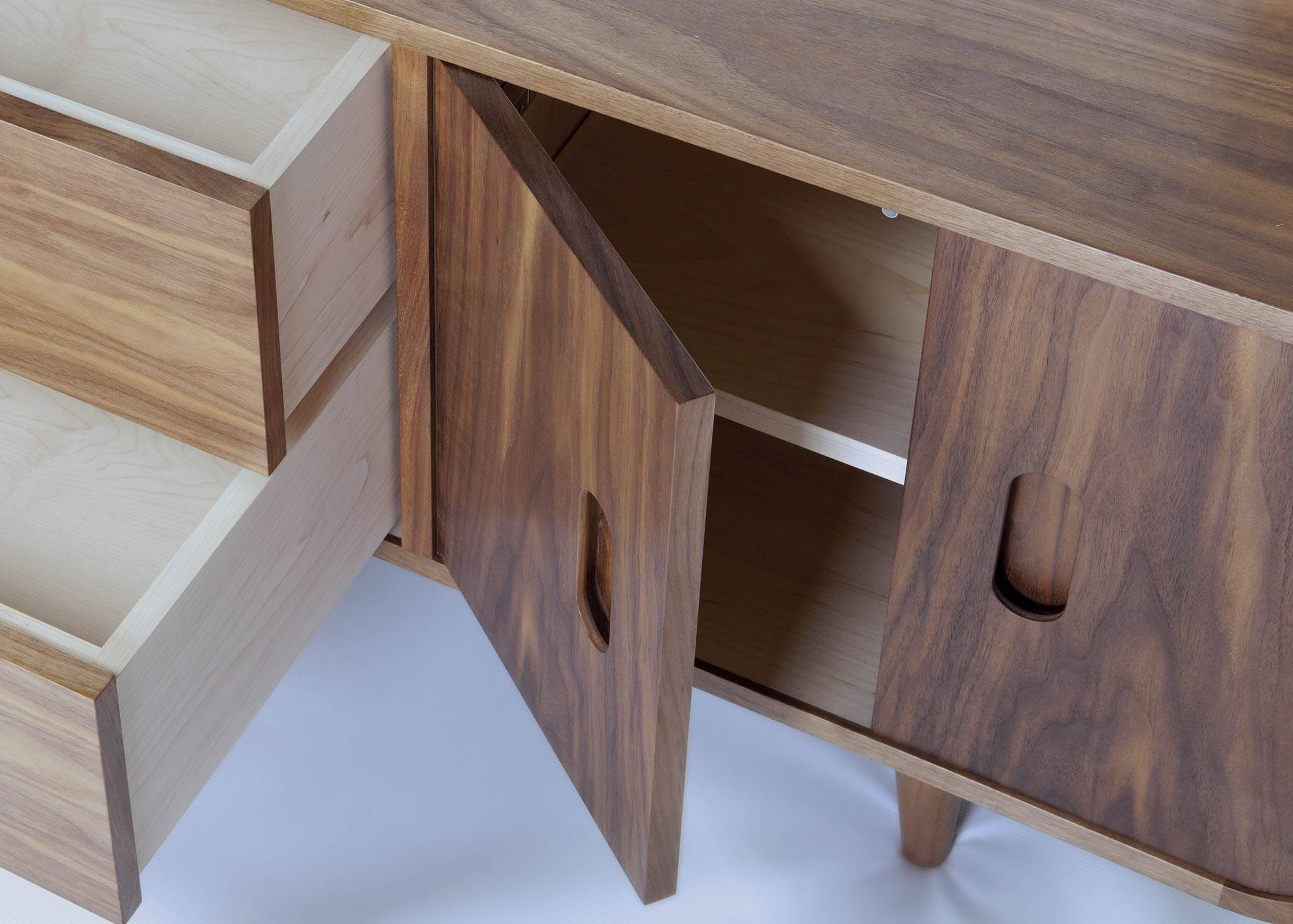 Retro Sideboard | Makers' Eye For Black And Walnut Sideboard (#15 of 20)
