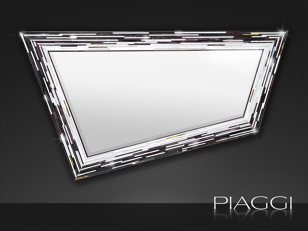 Rhombus Black Piaggi Glass Mosaic Mirror | Mirrors Inside Black Mosaic Mirrors (#25 of 30)