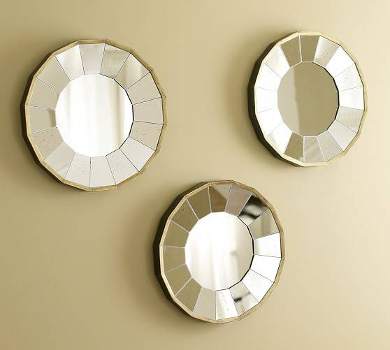 Rhona Round Gilt Mirrors, Set Of 3 | Pottery Barn Throughout Round Gilt Mirrors (#12 of 15)