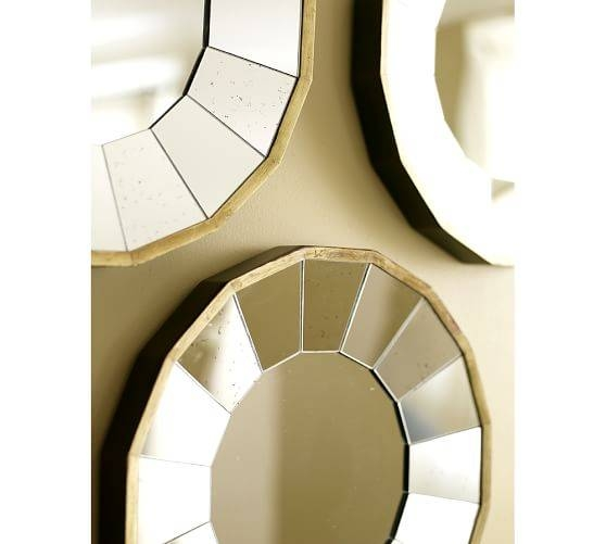 Rhona Round Gilt Mirrors, Set Of 3 | Pottery Barn With Regard To Round Gilt Mirrors (#13 of 15)