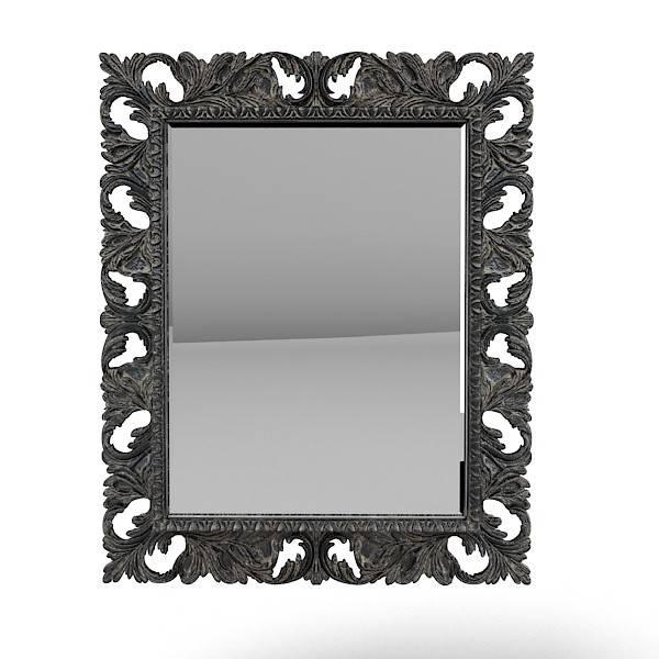 Richard Srichardbl 3D Model For Black Baroque Mirrors (View 17 of 20)