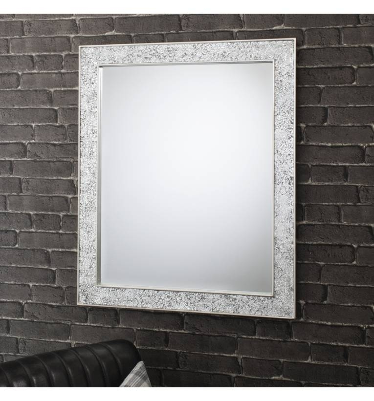 Ritz 33 X 27 Silver Wall Mirror Ritz 33 X 27 Silver Wall Mirror Inside Glitzy Mirrors (View 10 of 20)