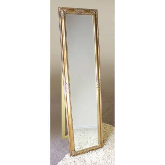 Rocco Cheval Floral Gold Frame Freestanding Mirror 15890 In Gold Standing Mirrors (#26 of 30)