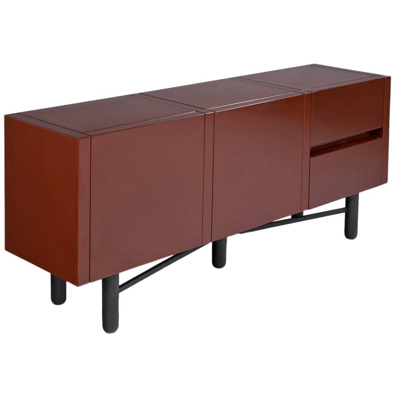 Roche Bobois Red Lacquered High Gloss Sideboard For Sale At 1Stdibs In Sideboard Sale (#13 of 20)
