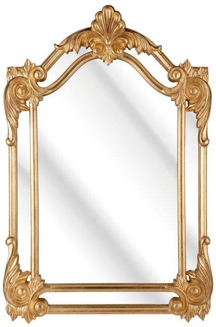 Rococo Double Feature Gold Mirror 119X80Cm – Soraya Interiors Uk Within Gold Rococo Mirrors (View 2 of 20)