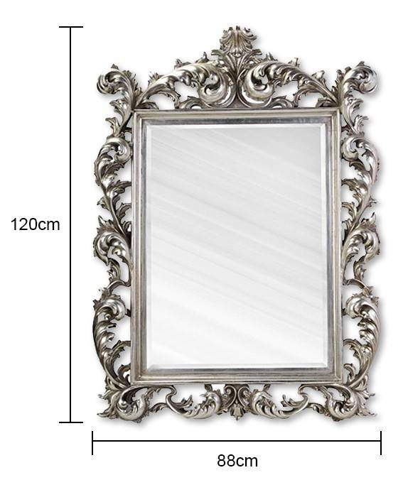 Rococo Mirror In Silver With Large Rococo Mirrors (#25 of 30)