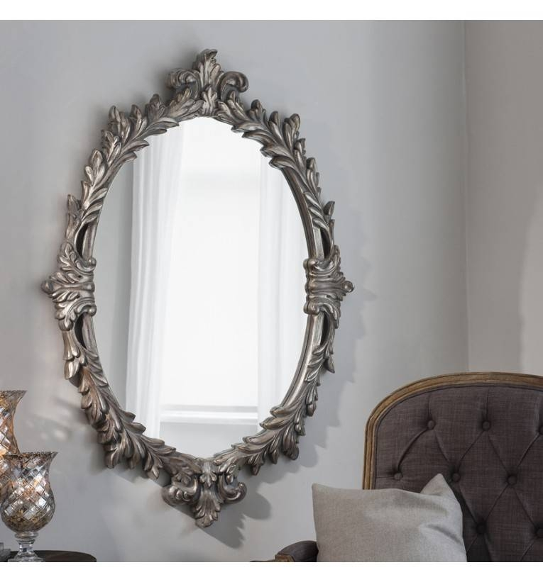 Rococo Mirrors | Exclusive Mirrors Throughout Distressed Silver Mirrors (#15 of 20)