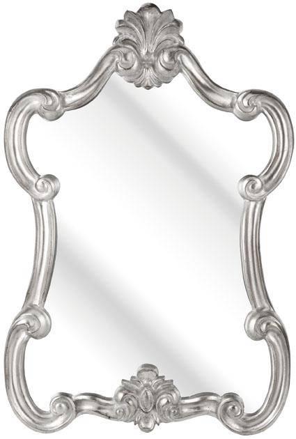 Rococo Ornate Small Silver Mirror 89X61Cm – Soraya Interiors Uk For Ornate Silver Mirrors (View 12 of 20)