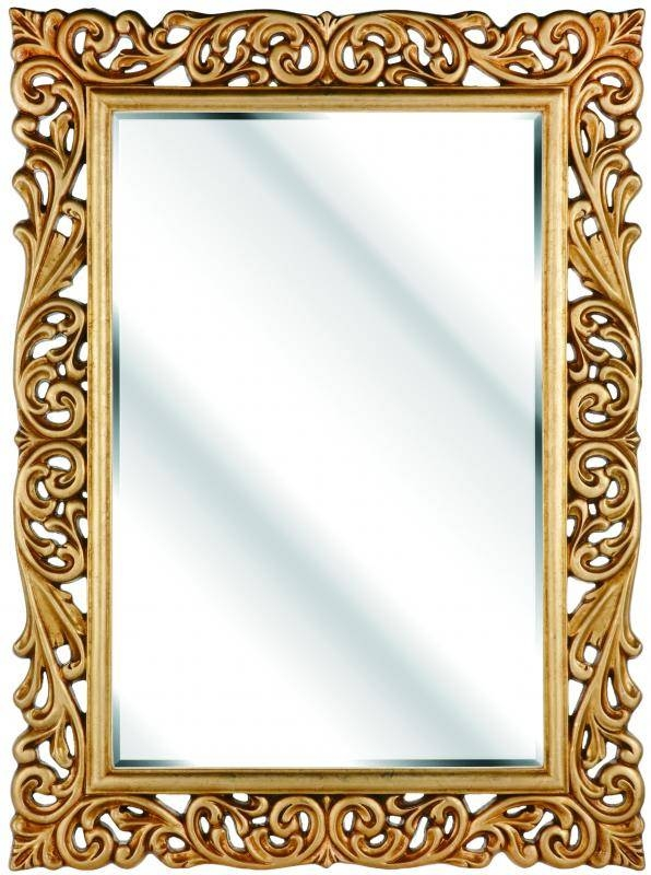 Rococo Rectangular Gold Mirror 116X86Cm – Soraya Interiors Uk Intended For Gold Rococo Mirrors (View 4 of 20)
