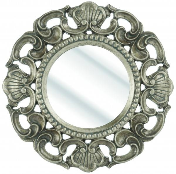 Rococo Round Gold Wall Mirror 62X62Cm – Soraya Interiors Uk For Gold Rococo Mirrors (View 13 of 20)