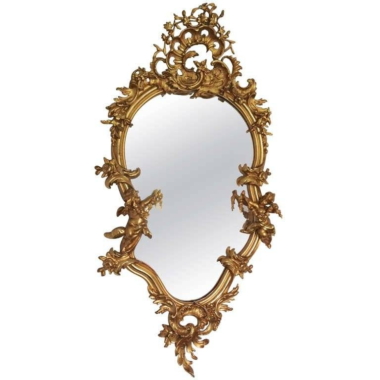Rococo Style Gilded Mirror For Sale At 1Stdibs In Rococo Style Mirrors (#23 of 30)