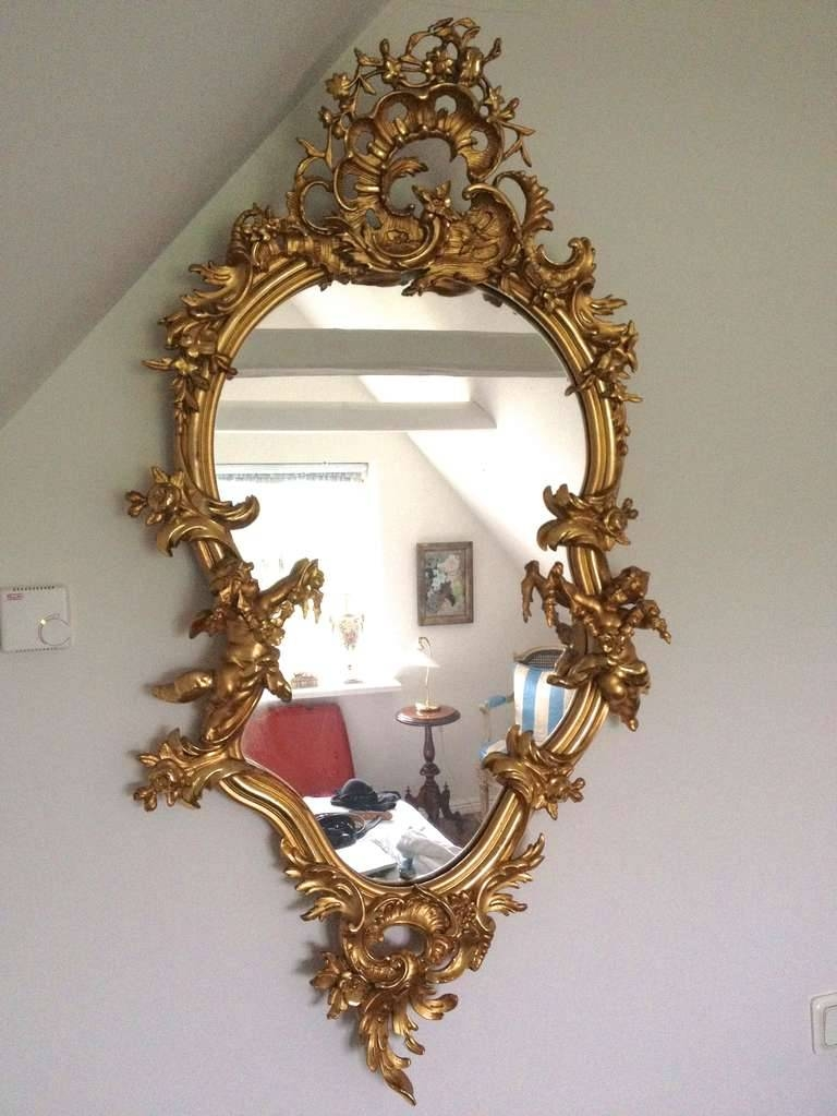 Rococo Style Gilded Mirror For Sale At 1Stdibs Regarding Rococo Style Mirrors (#24 of 30)