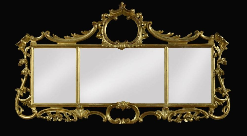 Rococo Style Giltwood Triptych Wall Mirror | 351264 For Rococo Style Mirrors (#25 of 30)