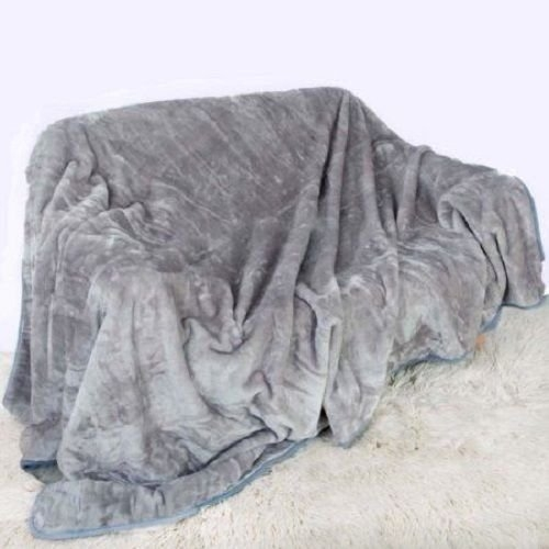 Rohilinen Luxury Supremely Soft Throw Grey Single Double With Grey Throws For Sofas (View 5 of 15)