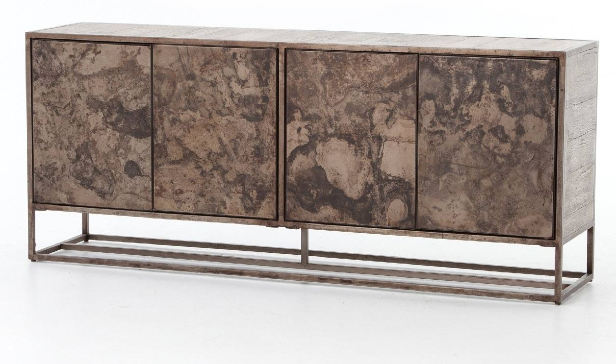Roman Sideboard, Industrial, Oxidized, Four Hands For Four Hands Sideboard (#16 of 20)
