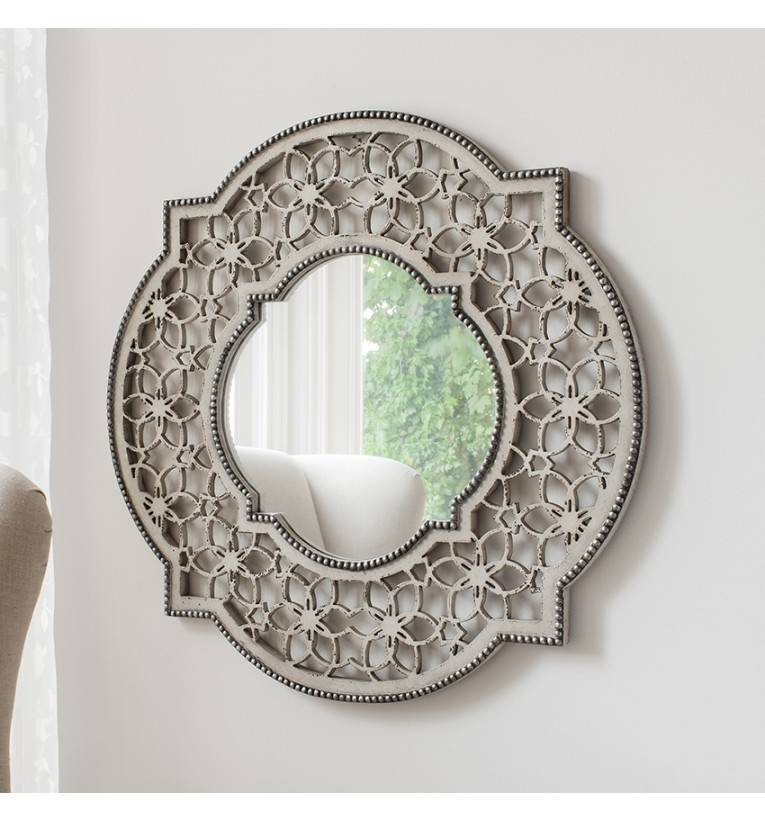 Romont Cream Wall Mirror Intended For Shabby Chic Wall Mirrors (View 7 of 30)