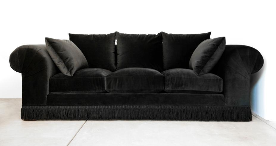 Rosa Beltran Design Opulent Decor And A Stunning Black Velvet Inside Black Velvet Sofas (#13 of 15)