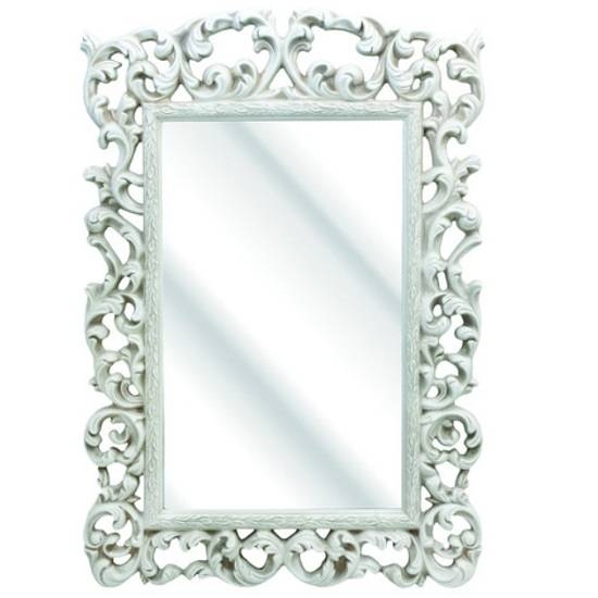 Rosco Ornate Wall Mirror In An Ivory Frame 25212 Furniture Pertaining To White Ornate Mirrors (#16 of 20)