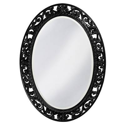 Rosdorf Park Oval Black Mirror | Wayfair With Oval Black Mirrors (#18 of 20)