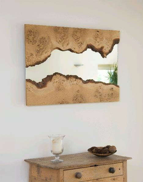 Rough Reflection: Natural Edge Wood Framed Wall Mirrors Inside Wooden Mirrors (#22 of 30)