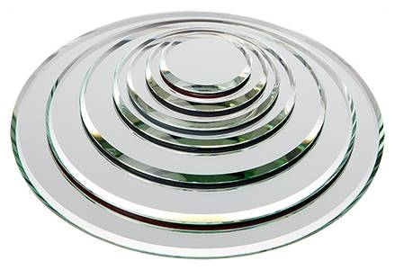 Round 3Mm Beveled Glass Mirrors With Small Bevelled Mirrors (#30 of 30)