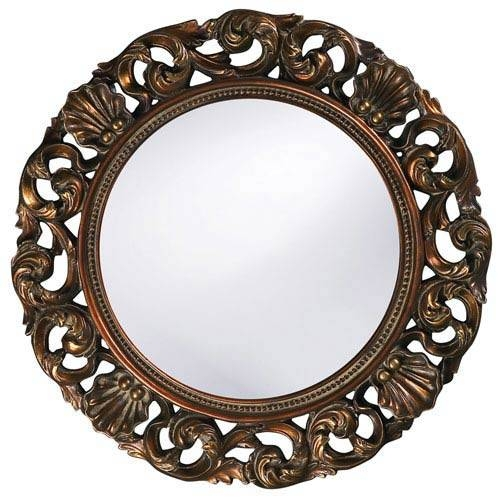 Inspiration about Round Antique Mirror | Bellacor Inside Round Antique Mirrors (#2 of 30)